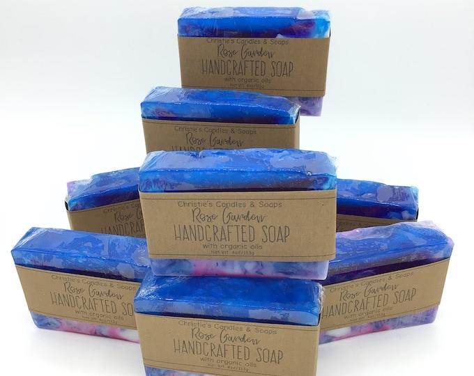 Rose Garden  Organic Glycerin Soap Slices - HIGHLY FRAGRANCED