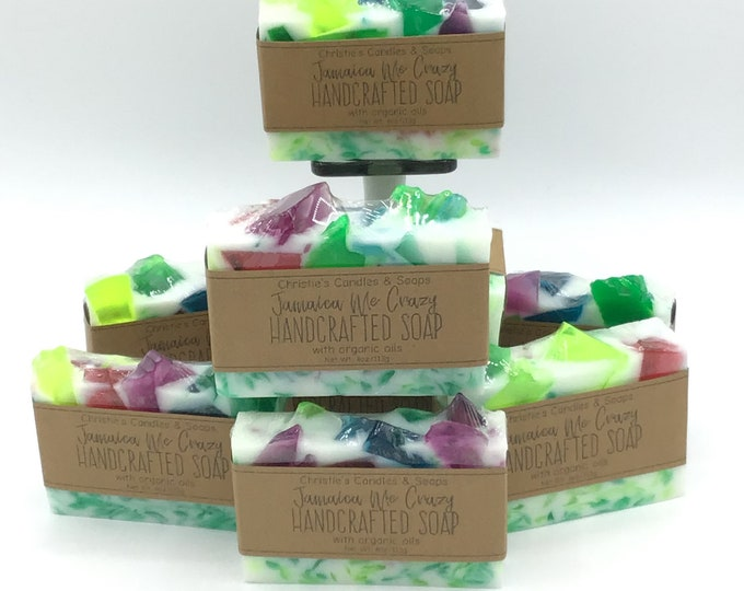 Jamaica Me Crazy Organic Glycerin Soap Slices - HIGHLY FRAGRANCED