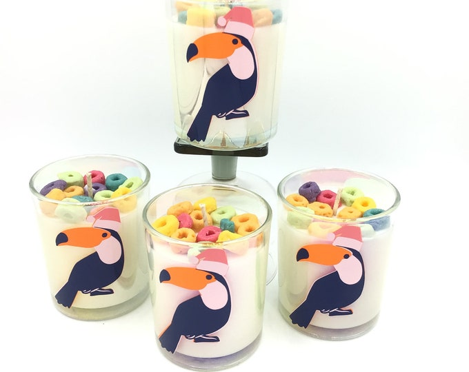 Fruit Loops Soy Wax Candle holiday toucan