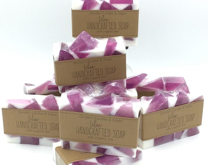 Lilac Organic Glycerin Soap Slices - HIGHLY FRAGRANCED