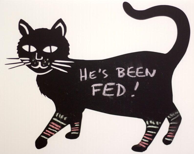 Chalkboard Cat image 0