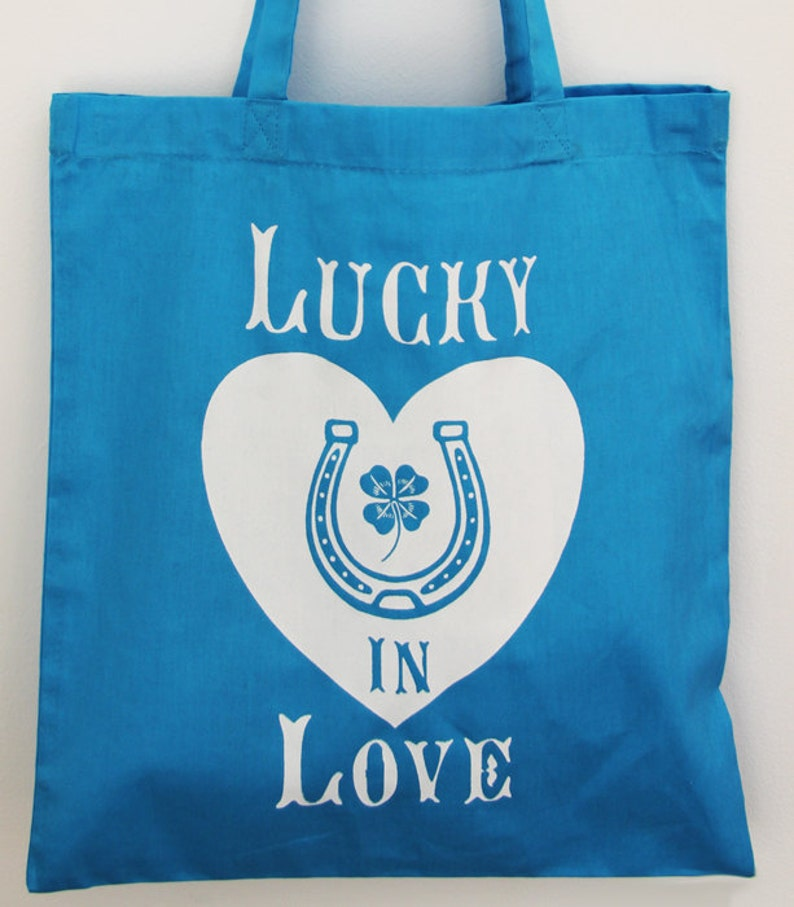 Lucky In Love Tote Bag image 0