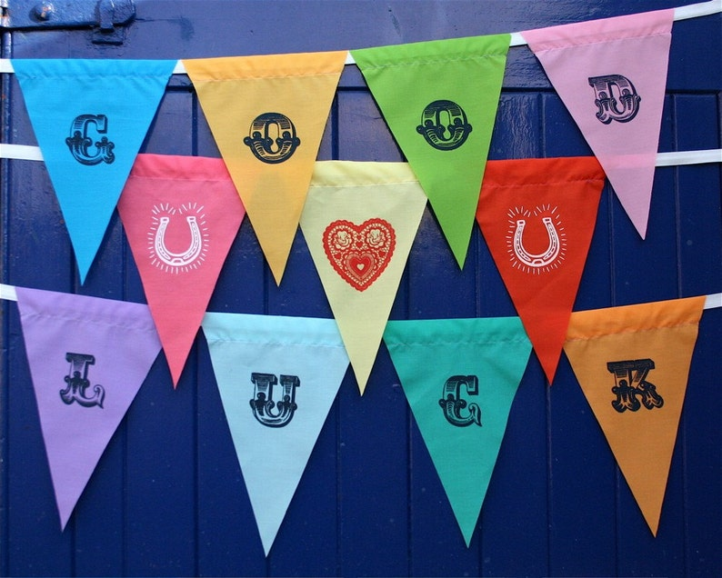 Alphabet bunting  10 letters image 0