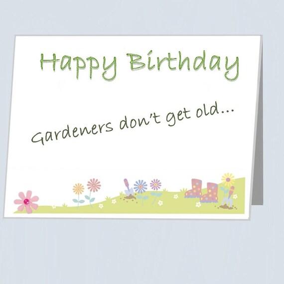 Gardeners Birthday Card Flower Embellishment UK Funny Greeting