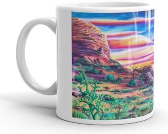Ghost Ranch by Mr. Mizu on Ceramic Coffee / Tea Mug