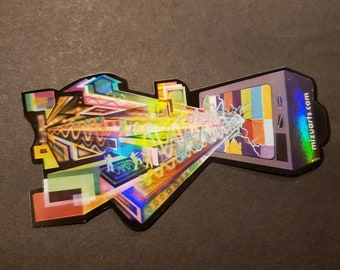 Technical Difficulties - Holographic Stickers by Mr. Mizu