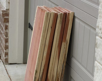 "Red Cedar Lumber, 36"" x 12"" x 1"" thick, DIY cedar wood, hanging shelf, woodworking products, cedar shelf, DIY shelf project, closet, crafts"