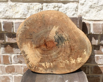 """Rustic Wedding Decor, Texas Pecan Slice, centerpiece, cake base, guest book option, 17"""" x 15"""" wide x 1.5"""" thick, sanded and finished"""