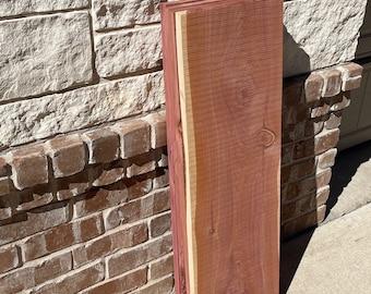 "Red Cedar Lumber, 36"" long, 11"" wide, 1"" thick, cedar wood diy, hanging shelf, woodworking products, cedar shelf, DIY shelf project, closet"