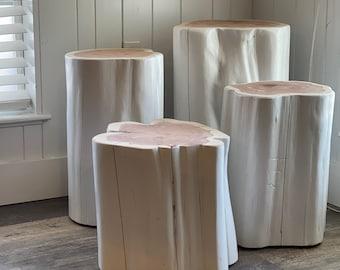 Modern Gloss White Side Table, End Table, Custom Home Decor, 3 sizes - 4 height options, reclaimed wood furniture, Modern Gloss White