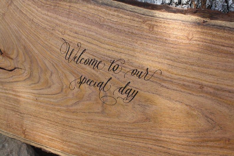 Alternative wedding guest book Engraved Live Edge Wedding Signing Boards Pecan or Cedar Texas Wedding Decor wood guest book Mesquite