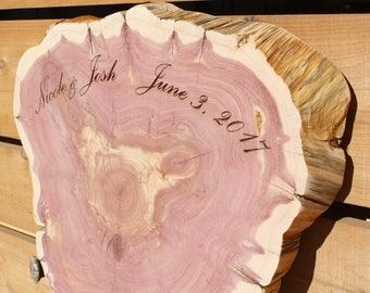 Rustic Guest Book, Guest Book Alternative, laser engrave, Large Tree Slice Guest Book, extra large wood slice, large wedding guest book