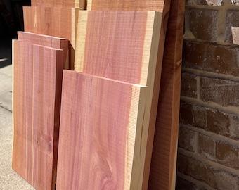 "Red Cedar Lumber, pick width & length,  misc pcs, 1"" thick, cedar wood, hanging shelf, woodworking products, cedar shelf, DIY shelf project"