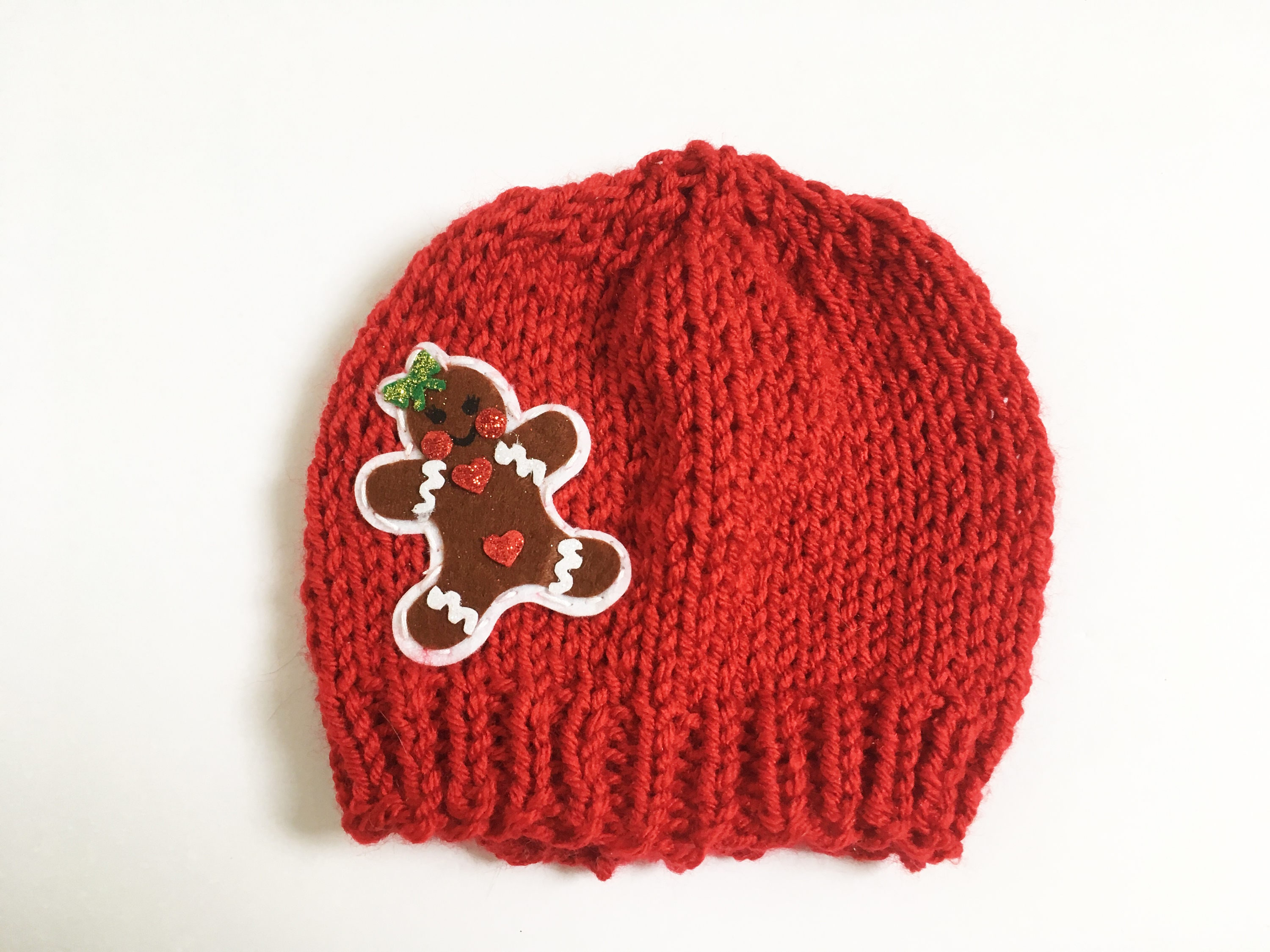 Knit Newborn Gingerbread Girl Hat First Christmas Hat | Etsy