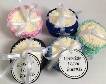 Reusable Facial Wipe,  Makeup remover, Reusable Facial Round, Crochet Facial Round, Reusable Makeup Remover Pads, Crochet Facial Wipe