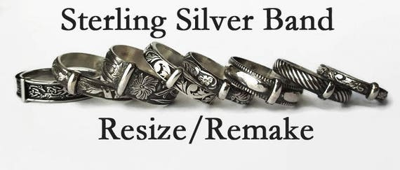 Sterling Silver Band Resize Remake Etsy