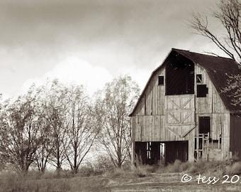 Photography - Barn Photo - Barn Photography - Black And White Barn Photo - Landscape Photography - Rustic Barn - Photography Prints