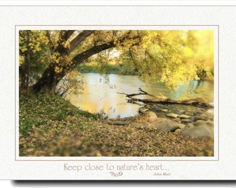 Photography Card - River View Photo Card - Nature Photography Card - Greeting Card