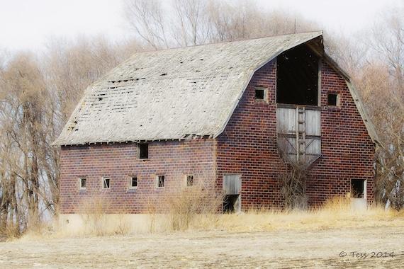Rustic Barn Photography Old Barn Photo Iowa Barn Barn Etsy