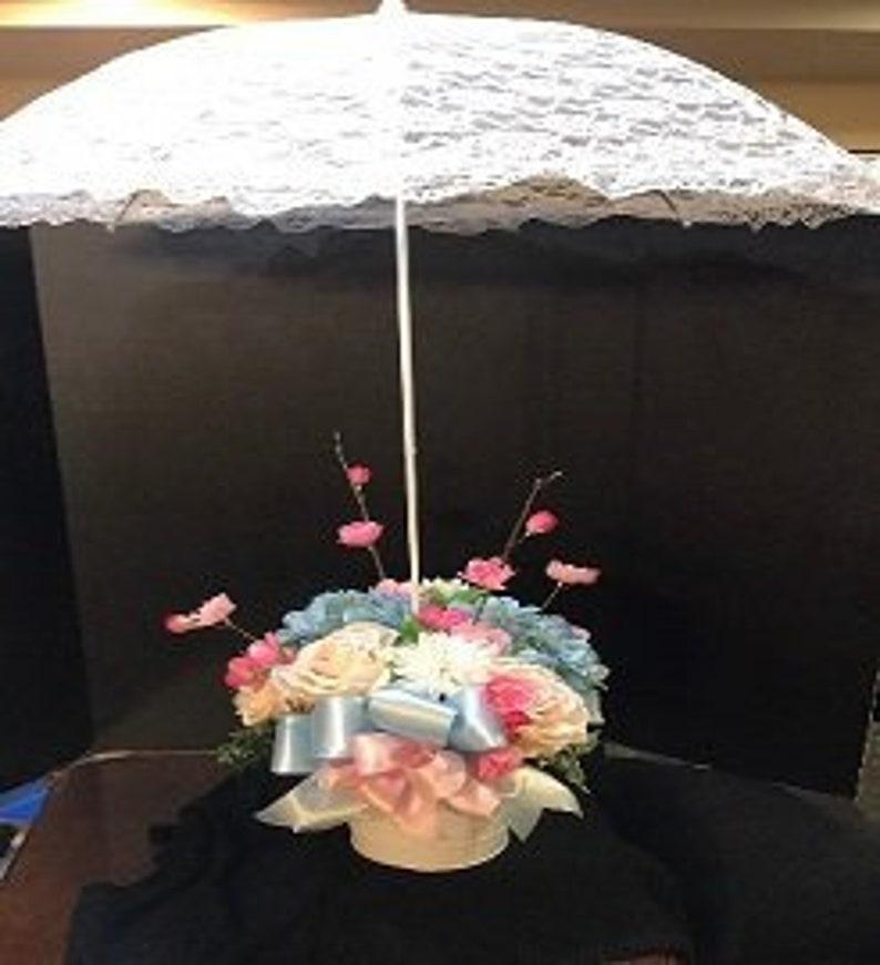 Weddingbaby Shower Floral Umbrella Table Centerpieces Silk Etsy