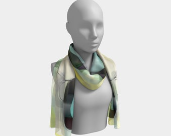 Lemon Meringue Scarf by Deloresart