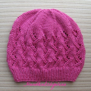 Instant Download Knitting Pattern #176 Stockinette Triangles Hat in Sizes 2 Years and TeenChild