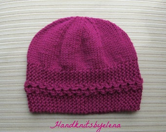 Instant Download #197 Knitting Pattern Hat Ingrid for a Lady