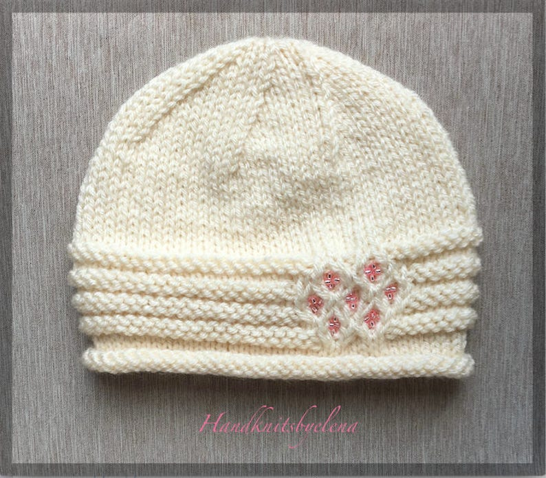 Instant Download Knitting Pattern Hat Juliana in Sizes 2-4 Years and Adult #237