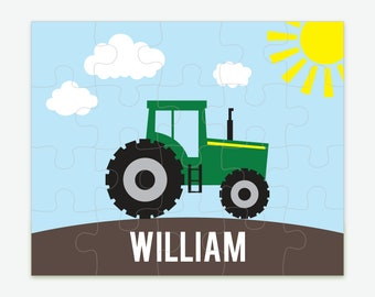Personalized Farm Tractor Puzzle for Kids, Tractor Gifts, Toddler Gifts, Name Puzzle, Custom Kids Puzzle, Personalized Kids Gifts, Farming