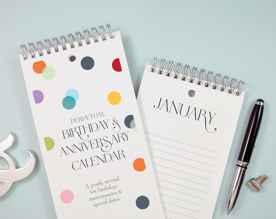Confetti Dots Birthday and Anniversary Calendar