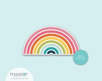 Rainbow Vinyl Sticker, Waterproof Sticker, Lunchbox Sticker, Laptop Case Sticker, Water Bottle Label, Colorful Sticker, Stickerhappy, Pride