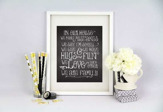 House Rules Print Your Own Framable Art