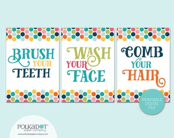 Brush Your Teeth - Wash Your Face - Comb Your Hair - Download and Print