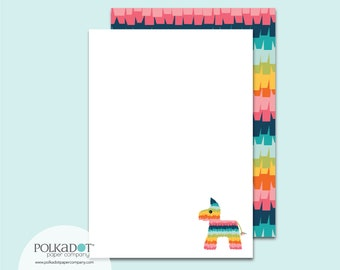 Pinata Ruffles Flat Stationery : Set of 12 Writing Papers with Envelopes