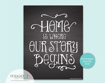 Home is Where Our Story Begins Quote - Download and Print