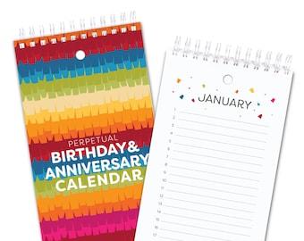Perpetual Birthday Calendar - Pinata Ruffles - Full Color Inside
