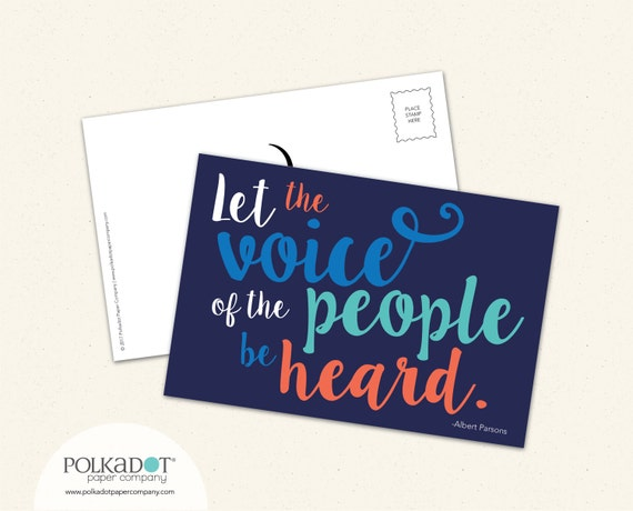 Activist Postcard - Set of 20 - Let the Voice of the People be Heard