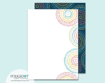 Pinwheels Flat Stationery : Set of 12 Writing Papers with Envelopes