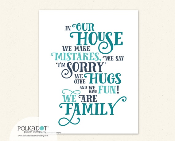 House Rules Framable Print - In Our House