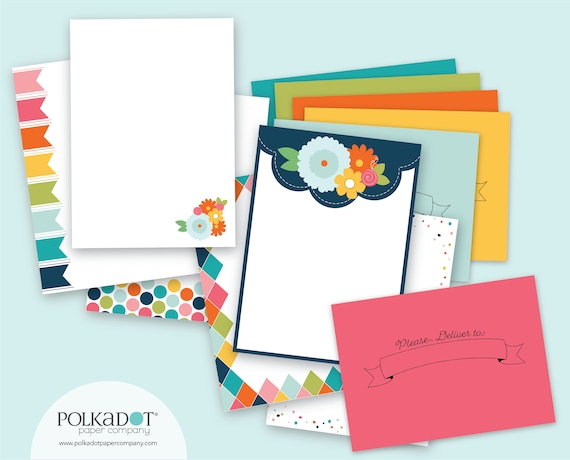 Please Deliver to... Stationery Set with Printed Envelopes