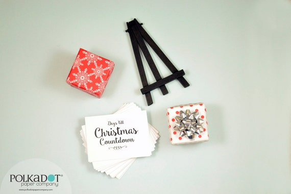 Christmas Countdown Calendar with Easel
