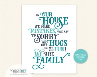 House Rules Quote - Download and Print
