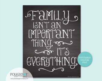 Family is Everything Quote - Download and Print