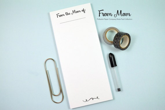 """From Mom - Note Pad - 50 Pages - 3.6x8.5"""""""