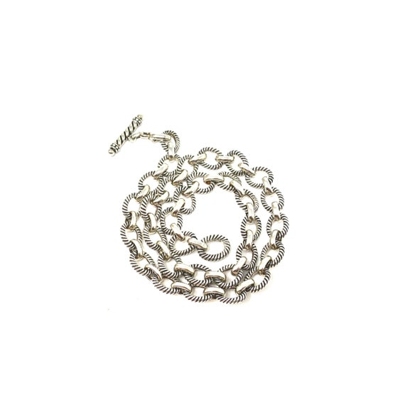 Vintage Sterling Silver Chunky & Heavy Link Chain