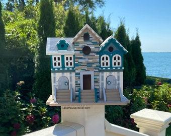 Coastal Decor Birdhouse. Beach House Decor OOAK.