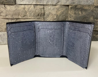 Pearl Gray Cork Trifold Wallet