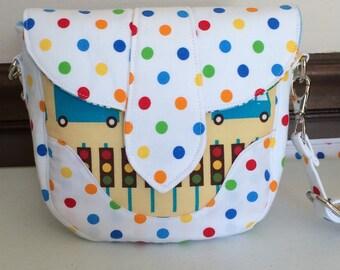 Dollie Mini Cross body Bag, Dollie Purse, Mini Crossbody Bag, Polka Dot bag