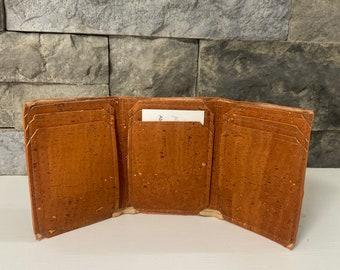 Copper Cork Trifold Wallet