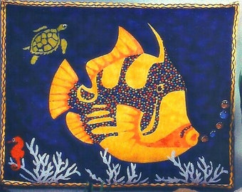 """Quilt Wall Hanging Pattern  """"Get Hooked"""" with FREE DOMESTIC Shipping"""